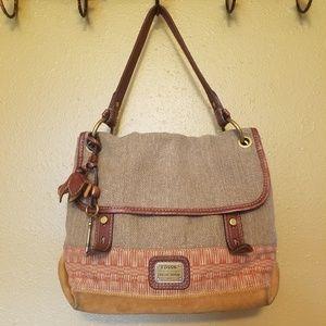 Fossil vintage shoulder bag purse messenger